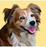 Custom Cartoon Pet Portrait